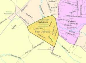 Englishtown map