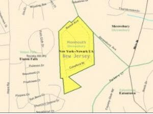 Shrewsbury Township map